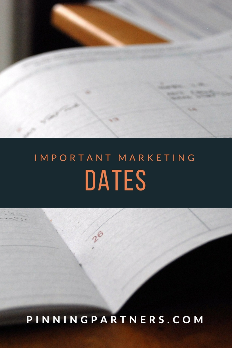Important marketing dates to remember