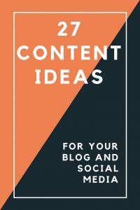27 content ideas
