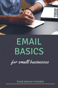 Email basics for small businesses! Use these tips to nurture and grow your email list. Email planner included!