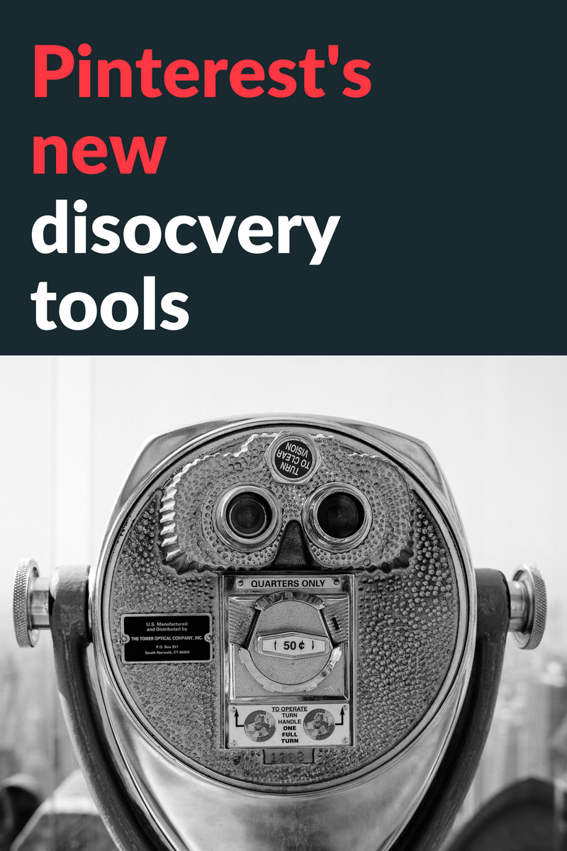 Pinterest's new discovery tools